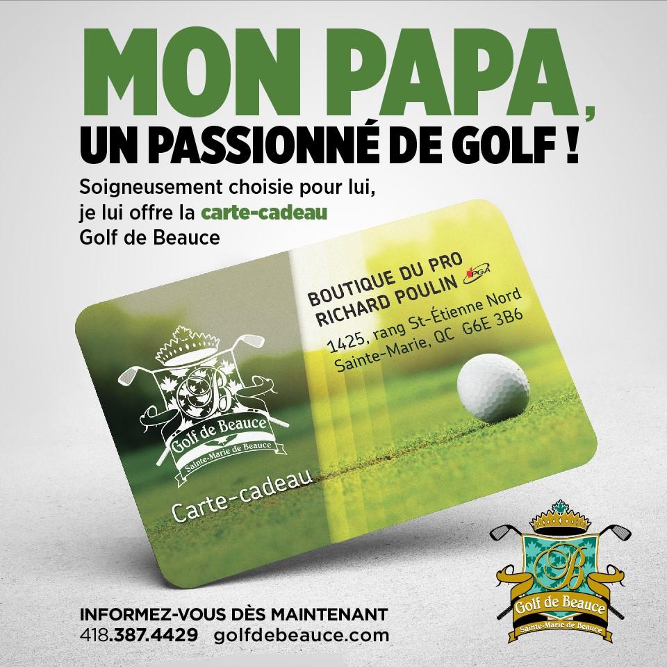 Carte Cadeau Golf.Carte Cadeau Golf De Beauce Club De Golf Sainte Marie En